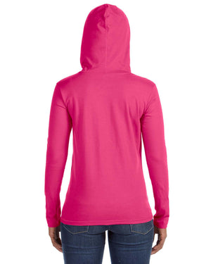 Anvil Ladies' Lightweight Long-Sleeve Hooded T-Shirt - 887L