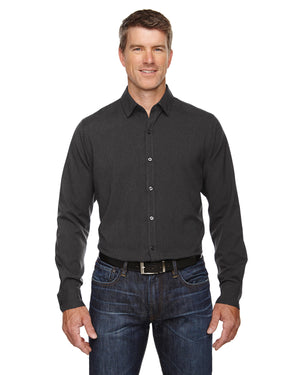 North End Men's Mélange Performance Shirt - 88802