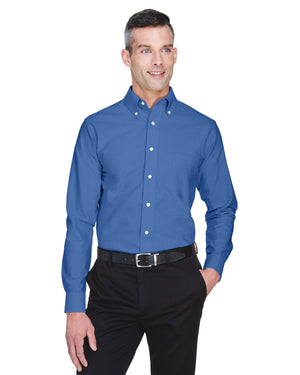 UltraClub Men's Tall Classic Wrinkle-Resistant Long-Sleeve Oxford - 8970T