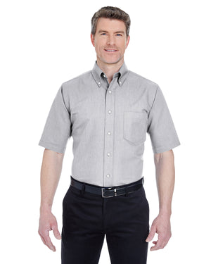 UltraClub Men's Tall Classic Wrinkle-Resistant Short-Sleeve Oxford - 8972T