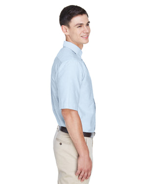 UltraClub Men's Classic Wrinkle-Resistant Short-Sleeve Oxford - 8972