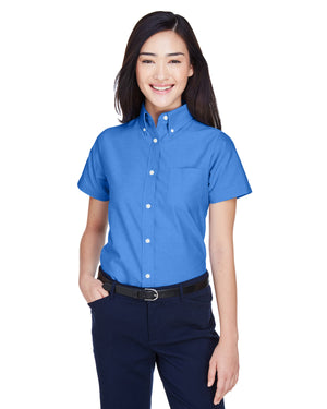 UltraClub Ladies' Classic Wrinkle-Resistant Short-Sleeve Oxford - 8973