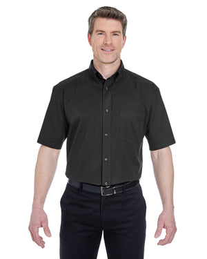 UltraClub Adult Short-Sleeve Whisper Twill - 8977
