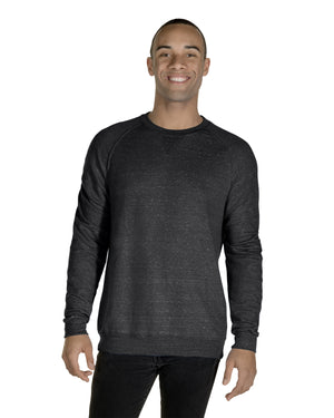 Jerzees Adult 7.2 oz., Snow Heather French Terry Crewneck Sweatshirt - 91MR
