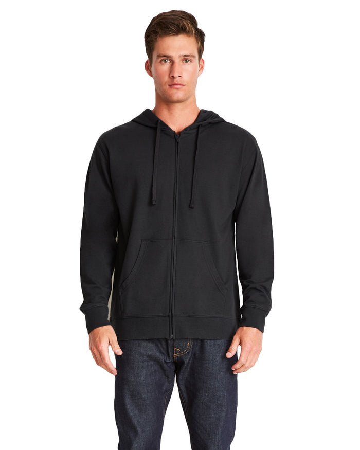 Next Level Adult French Terry Full-Zip Hooded Sweatshirt - 9601