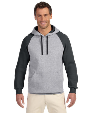 Jerzees Adult 8 oz. NuBlend® Colorblock Raglan Pullover Hood - 96CR