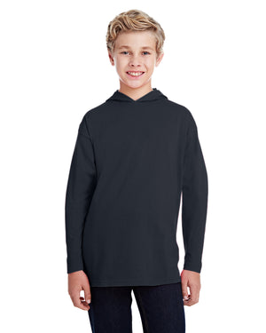 Anvil Youth Long-Sleeve Hooded T-Shirt - 987B