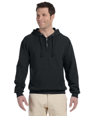 Jerzees Adult 8 oz. NuBlend® Fleece Quarter-Zip Pullover Hood - 994MR