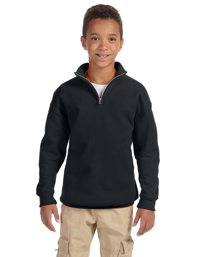 Jerzees Youth 8 oz. NuBlend® Quarter-Zip Cadet Collar Sweatshirt - 995Y