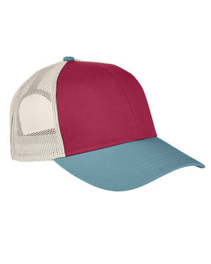 Authentic Pigment Tri-Color Trucker Cap - AP1919