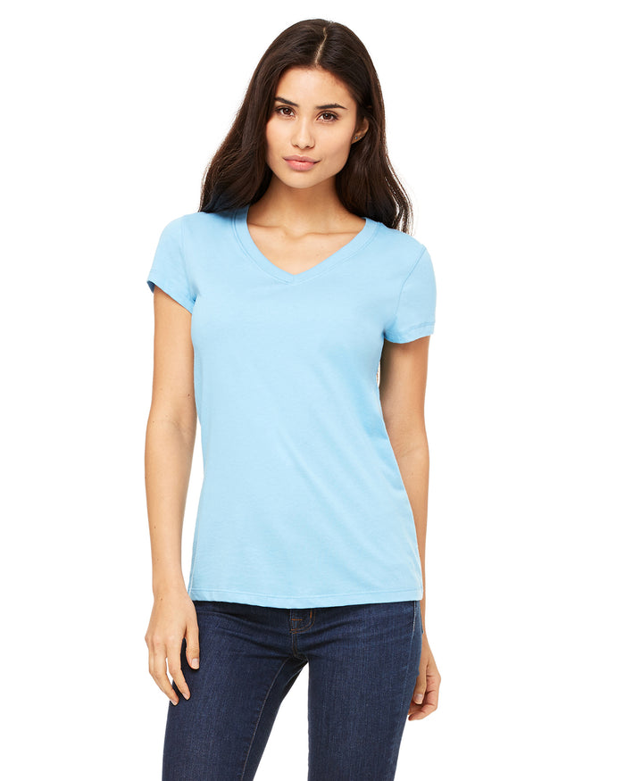 Bella + Canvas Ladies' Jersey Short-Sleeve V-Neck T-Shirt - B6005