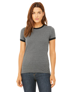 Bella + Canvas Ladies' Jersey Short-Sleeve Ringer T-Shirt - B6050