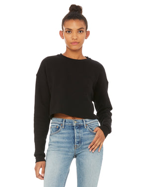 Bella + Canvas Ladies' Cropped Fleece Crew - B7503