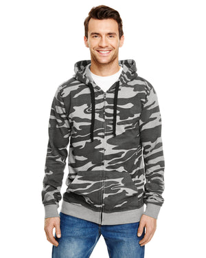 Burnside Adult Full-Zip Camo Hoodie - B8615