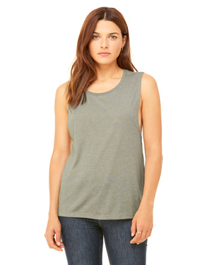 Bella + Canvas Ladies' Flowy Scoop Muscle Tank - B8803