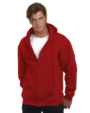 Bayside Adult  9.5oz., 80% cotton/20% polyester Full-Zip Hooded Sweatshirt - BA900