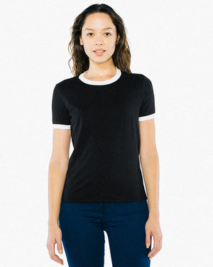 American Apparel Ladies' Poly-Cotton Ringer T-Shirt - BB310W
