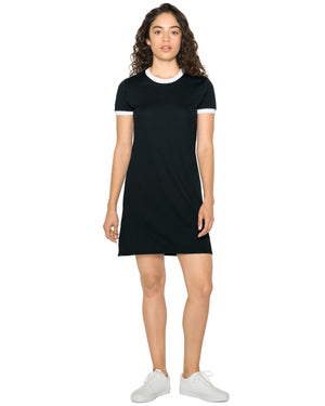American Apparel Ladies' Poly-Cotton Ringer T-Shirt Dress - BB3274W