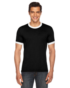 American Apparel UNISEX Poly-Cotton Short-Sleeve Ringer T-Shirt - BB410W
