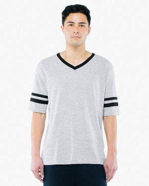 American Apparel Unisex Poly-Cotton V-Neck Football T-Shirt - BB4481W