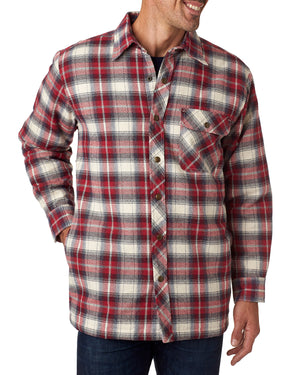 Backpacker Men's Flannel Shirt Jacket with Quilt Lining - BP7002