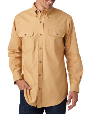 Backpacker Men's Solid Flannel Shirt - BP7005