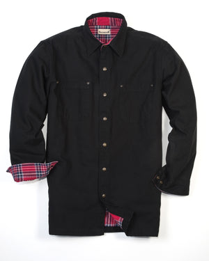 Backpacker Men's Canvas Shirt Jacket with Flannel Lining - BP7006