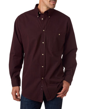Backpacker Men's Nailhead Long-Sleeve Woven Shirt - BP7010