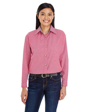 Backpacker Ladies' Yarn-Dyed Micro-Check Woven - BP7036