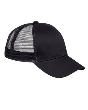 Big Accessories 6-Panel Structured Trucker Cap - BX019