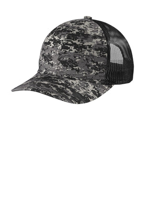 Port Authority  Digi Camo Snapback Trucker Cap C114