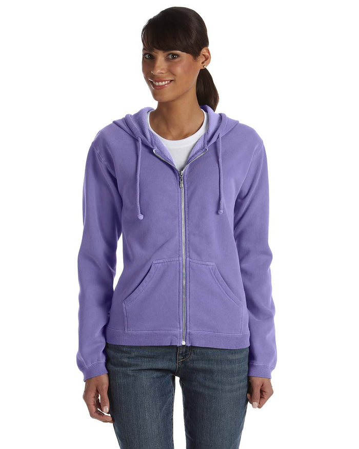 Comfort Colors Ladies' Full-Zip Hooded Sweatshirt - C1598