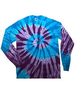 Tie-Dye Adult 5.4 oz. 100% Cotton Long-Sleeve T-Shirt - CD2000