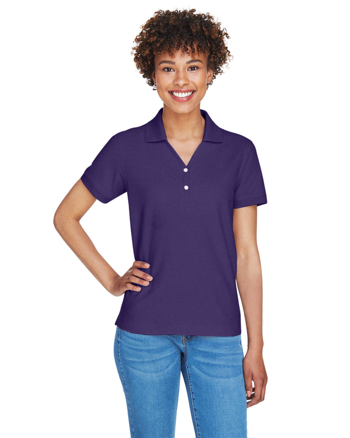 Devon & Jones Ladies' Pima Piqué Short-Sleeve Y-Collar Polo - D100W