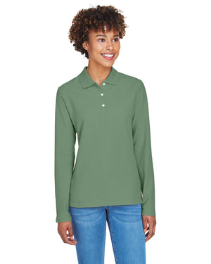 Devon & Jones Ladies' Pima Piqué Long-Sleeve Polo - D110W