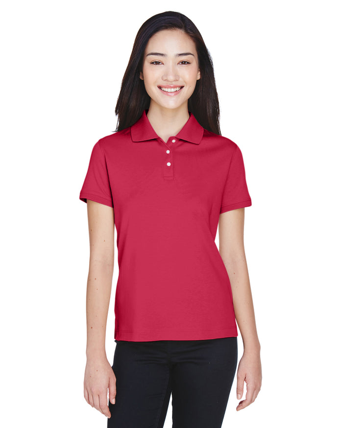 Devon & Jones Ladies' Solid Perfect Pima Interlock Polo - D140SW