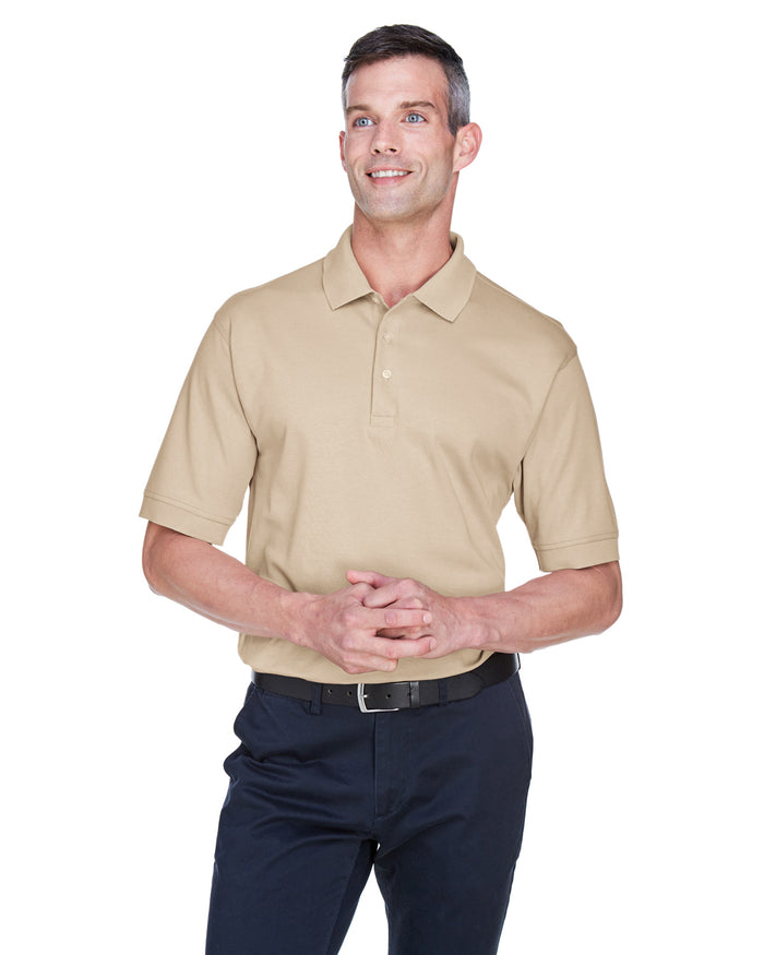 Devon & Jones Men's Solid Perfect Pima Interlock Polo - D140S