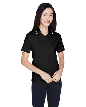 Devon & Jones Ladies' Tipped Perfect Pima Interlock Polo - D140W