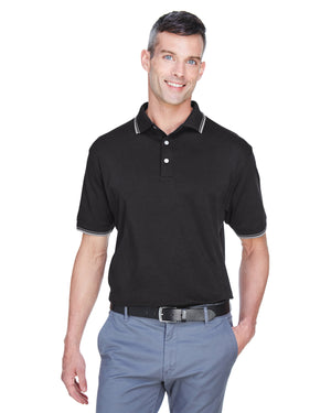 Devon & Jones Men's Tipped Perfect Pima Interlock Polo - D140