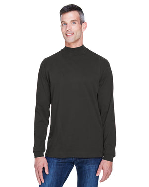 Devon & Jones Adult Sueded Cotton Jersey Mock Turtleneck - D420