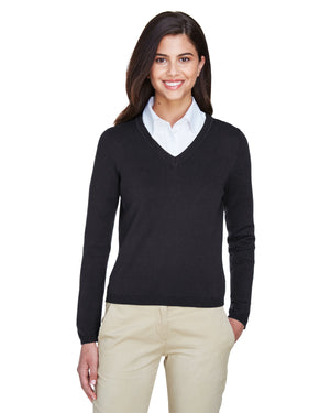 Devon & Jones Ladies' V-Neck Sweater - D475W