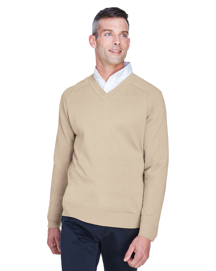 Devon & Jones Men's V-Neck Sweater - D475