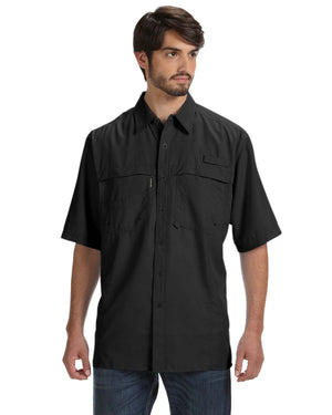 Dri Duck Men's 100% Polyester Short-Sleeve Fishing Shirt - DD4406
