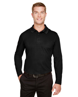 Devon & Jones CrownLux Performance™ Men's Plaited Long Sleeve Polo - DG20L