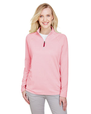 Devon & Jones CrownLux Performance™ Ladies' Clubhouse Micro-Stripe Quarter-Zip - DG480W