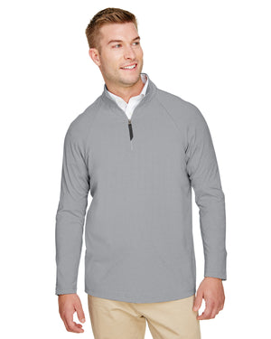 Devon & Jones CrownLux Performance™ Men's Clubhouse Micro-Stripe Quarter-Zip - DG480