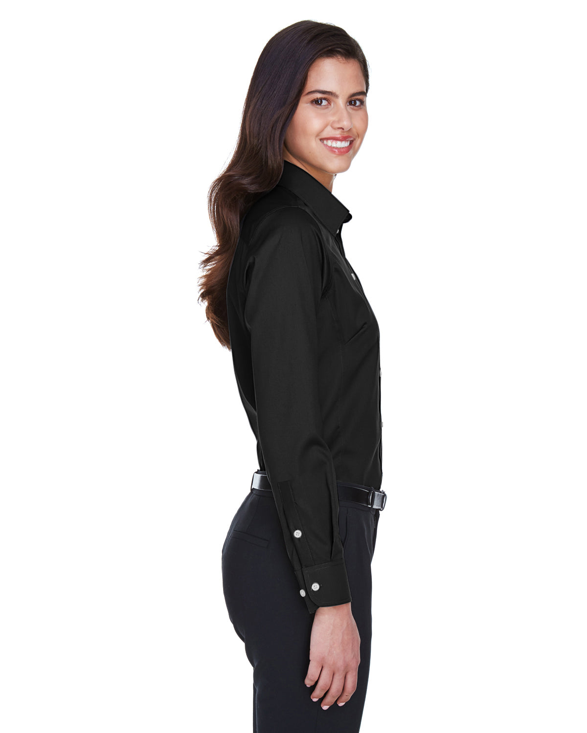D /& Jones Womens Crown Collection Solid Stretch Twill