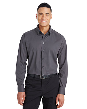 Devon & Jones CrownLux Performance™ Men's Tonal Mini Check Shirt - DG535