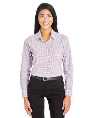 Devon & Jones CrownLux Performance™ Ladies' Micro Windowpane Shirt - DG540W