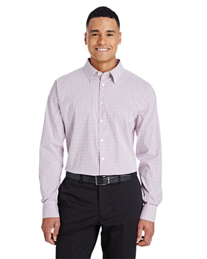 Devon & Jones CrownLux Performance™ Men's Micro Windowpane Shirt - DG540